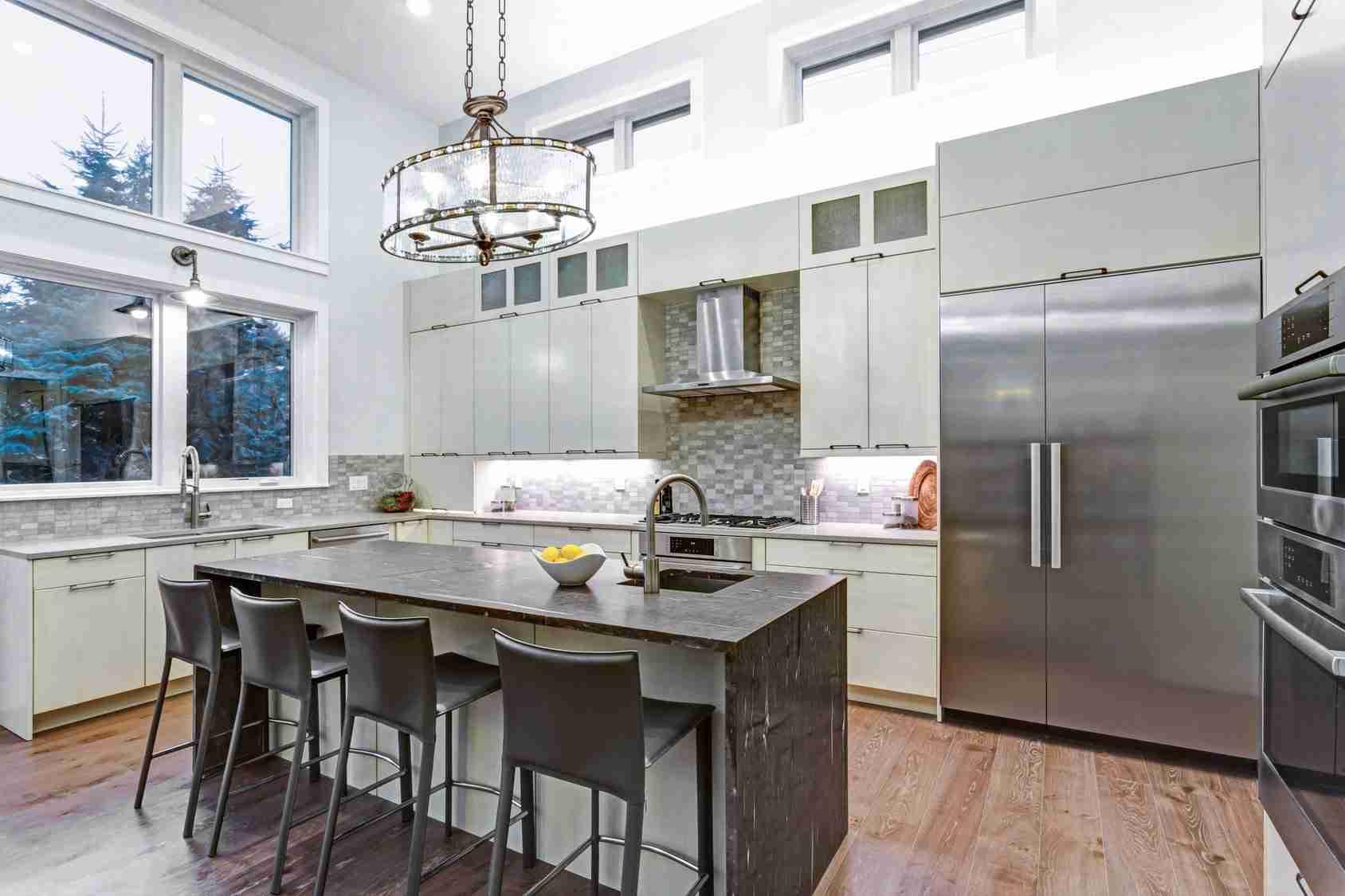 Custom Builder Contemporary Kitchen